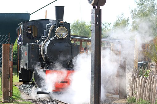 Little Train, Park, Locomotive, Steam, Transportation