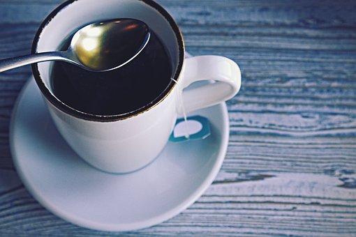Cup, Tee, Spoon, Tea Bags, Macro, Eat, Drink, Enjoy