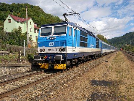 Train, Czech Republic, Czech Railways, 371, Eurocity