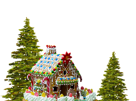 Christmas, Gingerbread, Gingerbread House