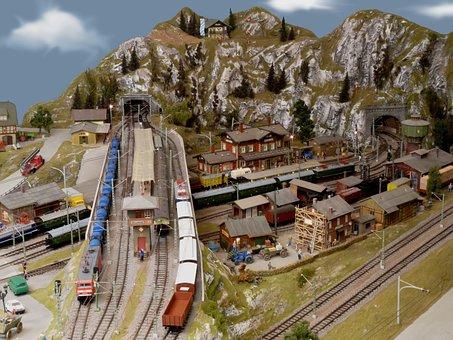 Model Train, Track Tt, Highlands, Hobby, Railway