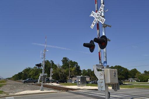 Houston Texas Rail Road Crossing, Chemtrail