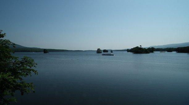 Hokkaido, Onuma Park, Cruise Ship, Lake Surface, Sky