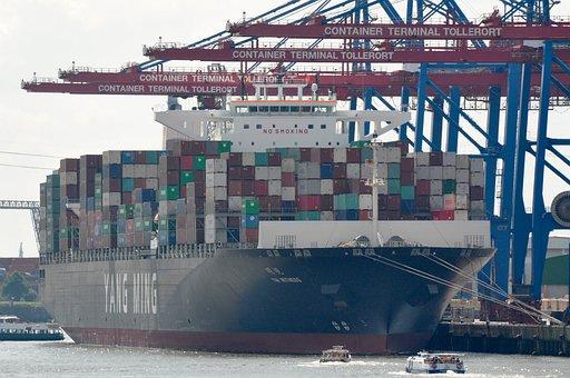 Ship, Hamburg, Port, Landungsbrücken, Hanseatic City