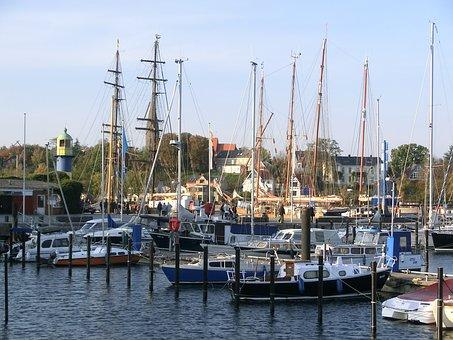 Port, Eckernförde, Lake, Baltic Sea, Maritime, Ships