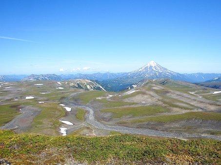 Mountain Plateau, Volcano, Mountains, Landscape, Nature