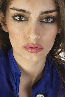Muscles, Eyes, Lips, Lip, Nose, Model, Women's