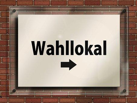 Bundestagswahl, Choice, Choice Locally, Door Sign, Note