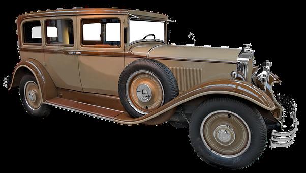 Isolated, Limousine, Oldtimer, Auto, Automotive