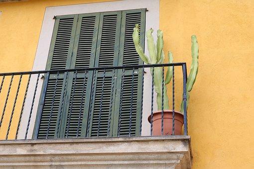 Mallorca, Palma, Palma De Mallorca, Balcony, Old Town