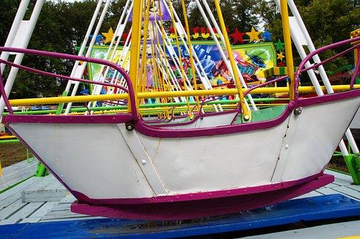 Swing, Boat, Baby Swing, Pilgrimage, Amusement Park