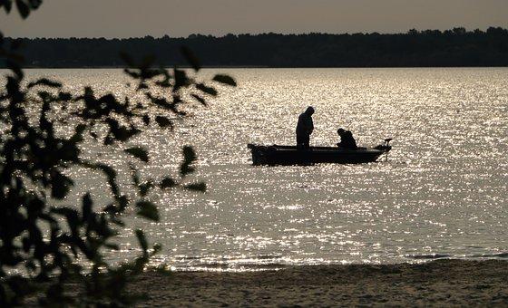 Boat, Angler, Lake, Rowing Boat, Water, Fish, Fisherman