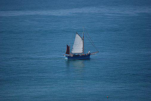 Sea, Old Rig, Sailing, Navigation, Sailboat, Boat