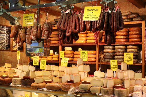 Cheese, Sausage, Ham, Market Hall, Palma