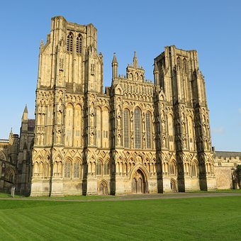 Wells, Cathedral, Somerset, Uk, England, Historic