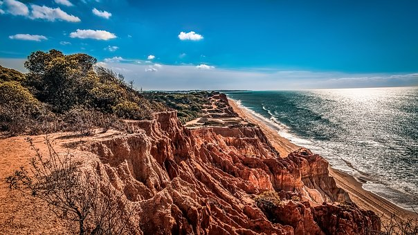 Beach, Sunset, Algarve, Sunset Beach, Ocean, Landscape