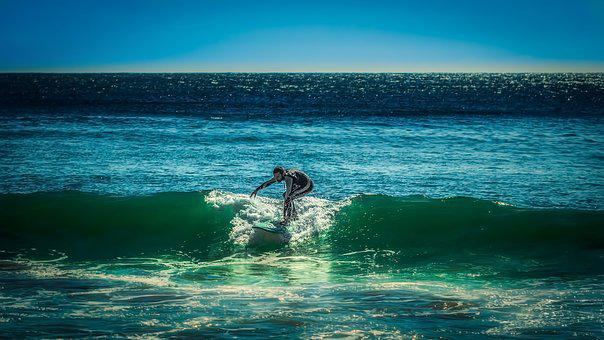 Surfer, Nazare, Portugal, Atlantic, Surfing