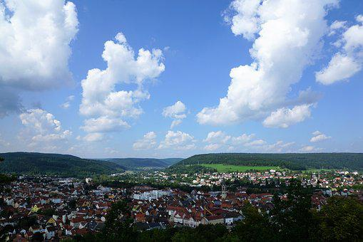 Tuttlingen, Honing Mountain, Honing Castle, Summer