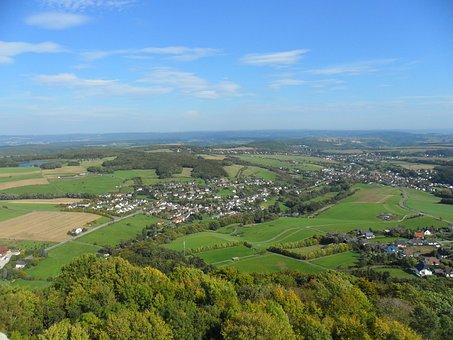 Olbrück Castle, Sachsen, Observation Deck, View