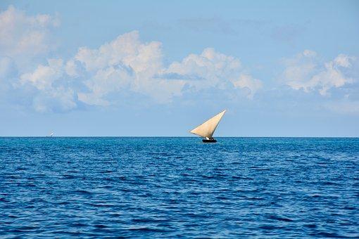 Sailing Boat, Zanzibar, The Indian Ocean, Africa