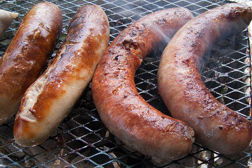 Barbecue, Sausage, Background, Texture, Fried, Food