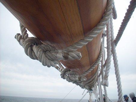 Boom, Tall Ship, Ship, Boat, Mast, Sail, Rope, Old
