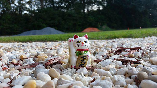 Lucky, Cat, Neko, Maneki, Symbol, Japanese, Traditional
