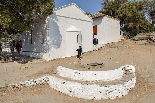 Greece, Skopelos, Kastri, Ayios Ioannis, Church