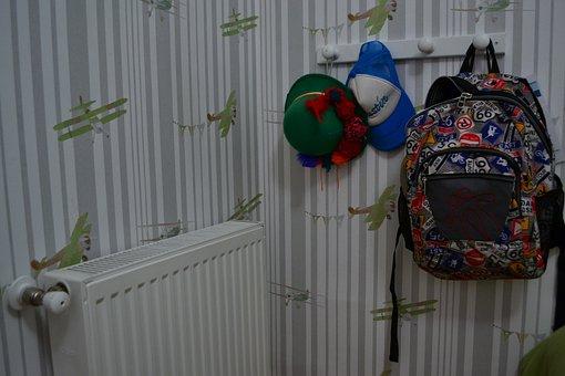 Room, Back Pack, House, School