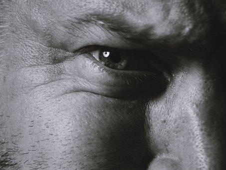 Man, Eyes, Creepy, Human, Portrait, Male, Close, Skin