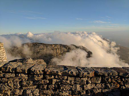 Table Mountain, Clouds, Cape Town, Mountain