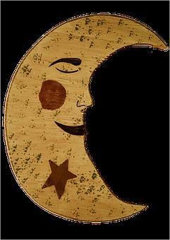 Good Night, Crescent, Luna, Sleep, Wood, Concerns, Old