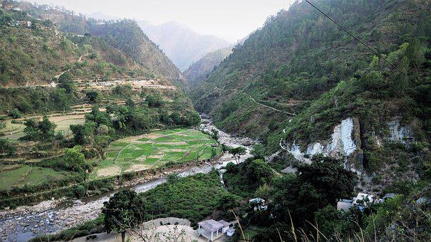 Uttarakhand, Pauri, India, Valley, Agriculture, River