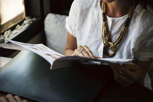 Reading, Leisure, Restaurant, Coffee Shop, Magazine