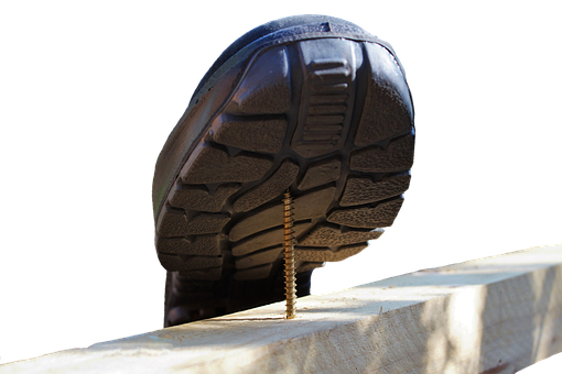 Safety Shoes, Osh, Screw, Risk Of Accidents