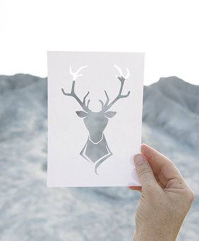 Craft, Mountain, Holding, Paper, Tranquil Scene
