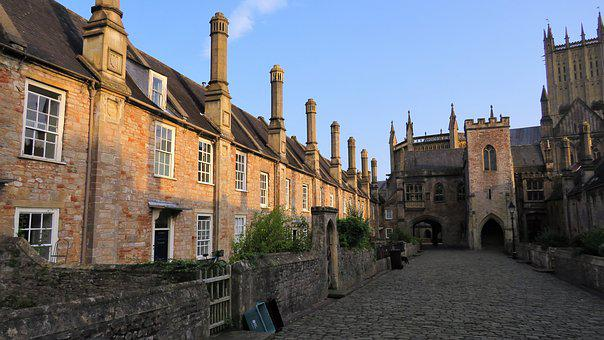 Almshouses, Poor, Housing, Wells, Somerset, Uk