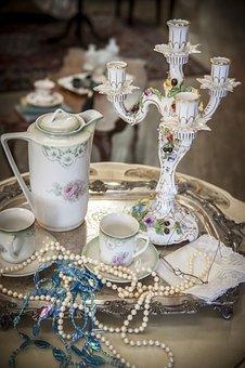 Vintage Tea Set, Tea Set, Tea Cup, Candelabra