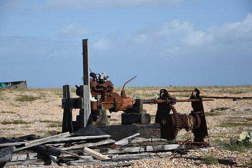 Abandoned, Machinery, Dungeness, Industry, Fishing