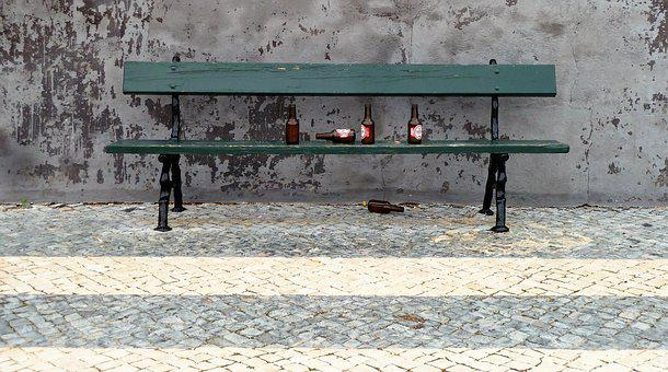 Drink, Beer, Bench, Alcohol, Alcoholism, Tramps