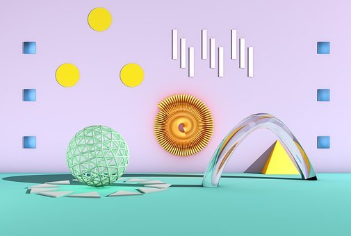 Color, Pastel, Background, Geometric, Structures