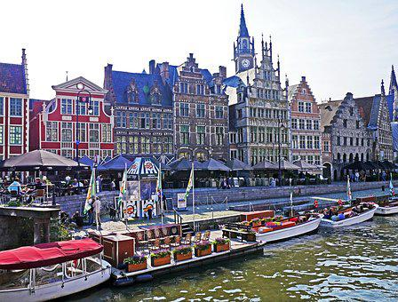 Belgium, Gent, Capital Of The Province, Cityscape