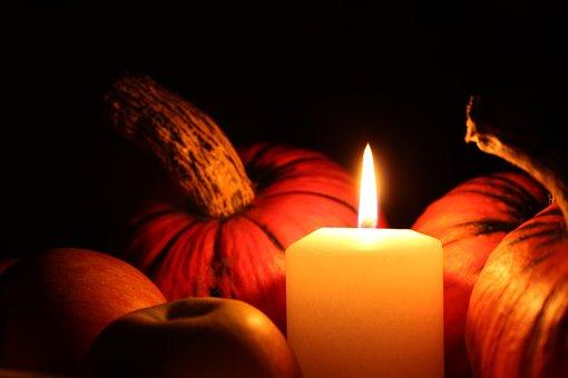 Pumpkin, Candle, Halloween, Autumn, Light