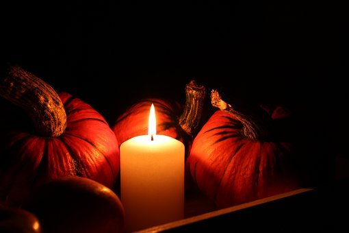 Pumpkin, Candle, Still Life, Helloween, Autumn, Light