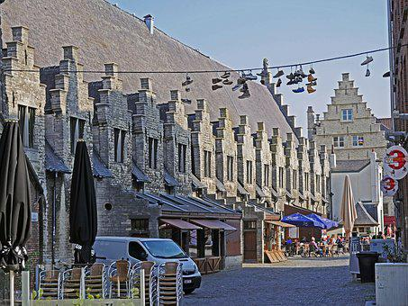 Historic Meat House, Gent, Belgium, Downtown, Centrum