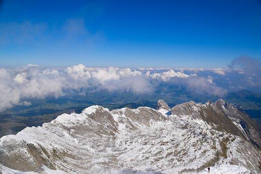 Mountains, Clouds, Sky, Landscape, Blue, Nature