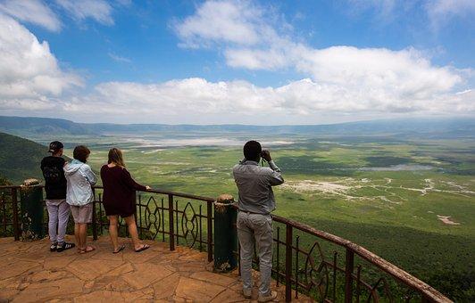 Ngorongoro Crater, Tanzania, Africa, Nature, Crater