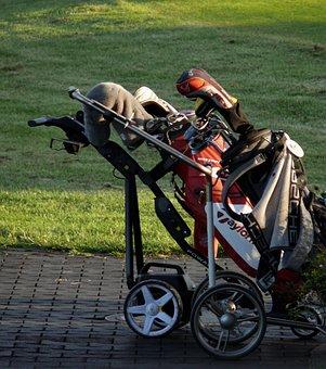 Golf, Caddy, Tee, Golf Carts, Golf Clubs, Golfer, Green