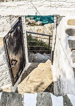Door, Yard, Exterior, Architecture, Greek, Island