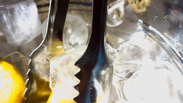 Ice Cubes, Ice Tongs, Beverages, Drink, Gastronomy